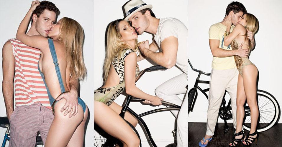 Jonatas Faro e Danielle Winits fazem poses sensuais para edição da revista