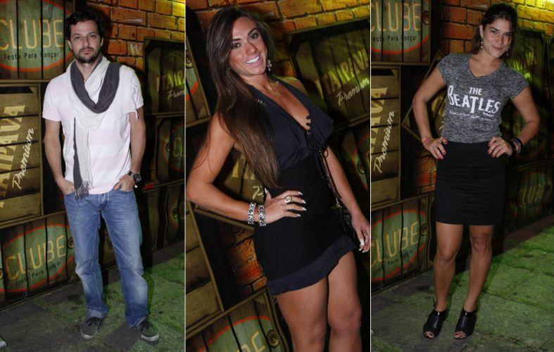 Marcelo Serrado, Nicole Bahls e Priscila Fantin curtem festa em Botafogo, Rio de Janeiro, na noite de sexta-feira (12/11)