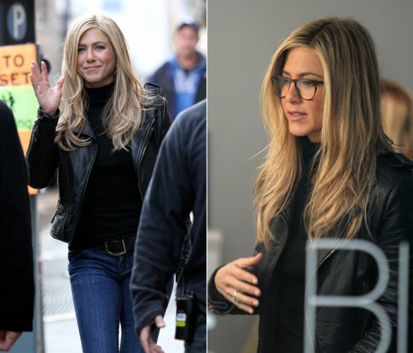 Jennifer Aniston usa cabelos loiros em seu novo filme 