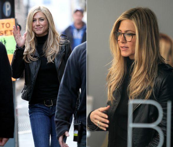 Jennifer Aniston usa cabelos loiros em seu novo filme