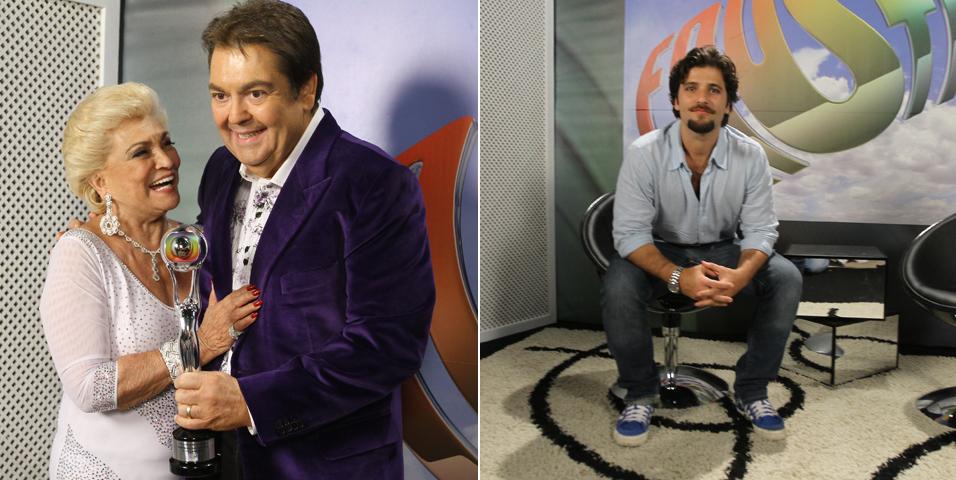 Hebe Camargo e Bruno Gagliasso participam das gravações do