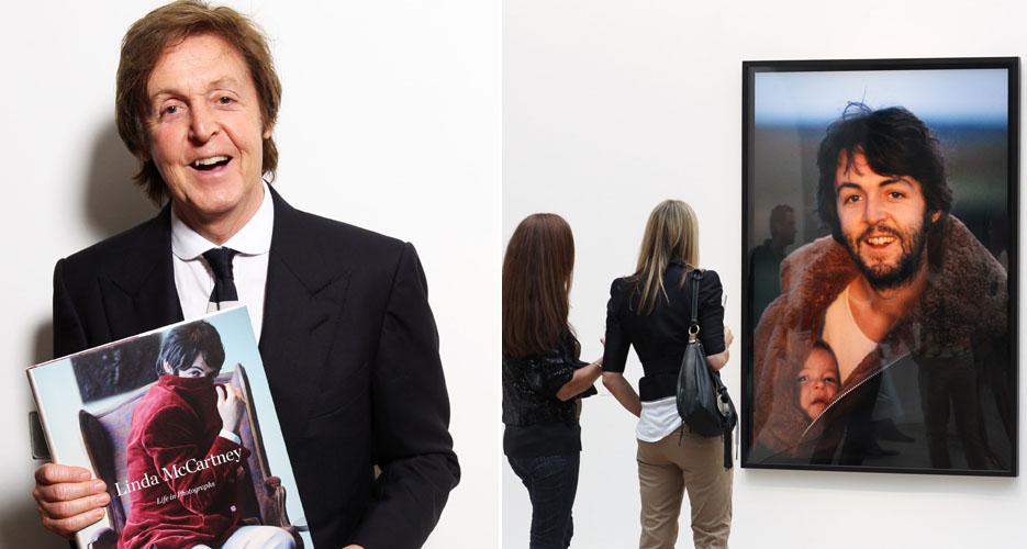 Sir Paul McCartney vai à exposição