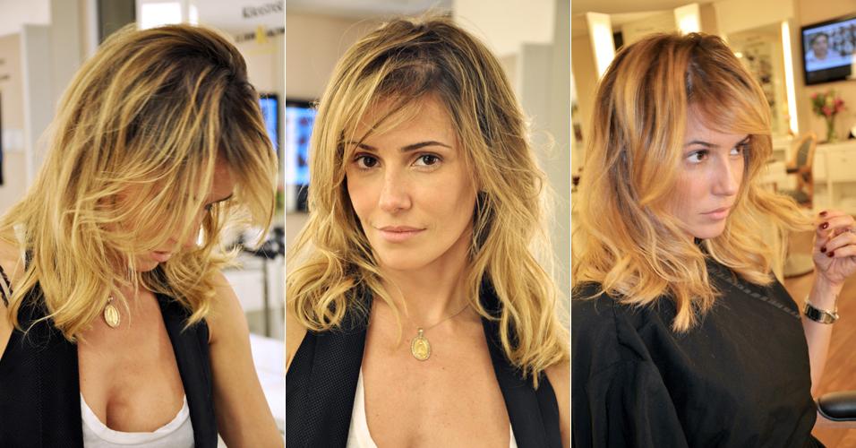 A atriz Deborah Secco se livra do visual da personagem Natalie Lamour, de