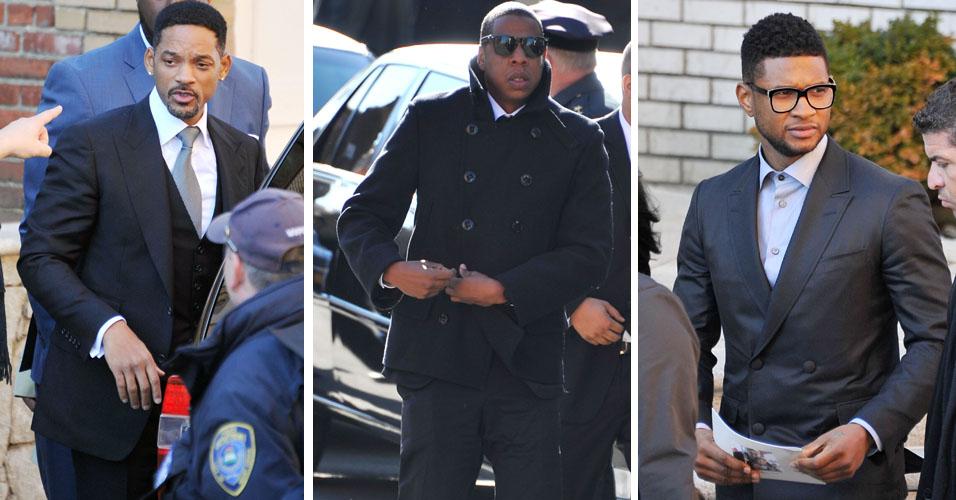Usher, Jay-Z e Will Smith vão ao funeral do rapper Heavy D em Nova York. Cantor morreu aos 44 anos no último dia 8 de novembro (18/11)