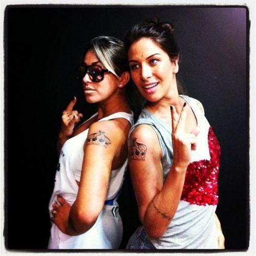 ...Bolina e Lizi Benites fazem tatuagem idêntica para selar a amizade.