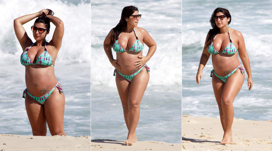 ex-BBB Priscila Pires aproveitou a terça-feira (03/01/12) para ...