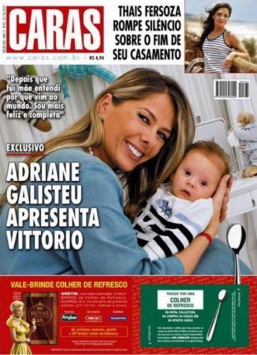 Dois meses após o nascimento de Vittorio, Adriane Galisteu