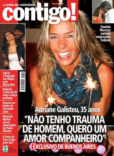 Dois meses após o fim de seu namoro com Fábio Faria, Adriane Galisteu foi para Buenos Aires comemorar seu aniversário de 35 anos e posou para a capa da