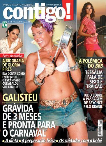 Grávida de 3 meses, Adriane Galisteu posou para a capa da