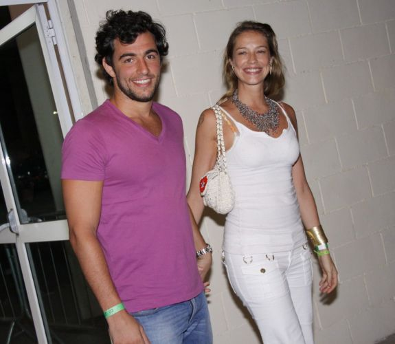 Felipe Simo e Luana Piovani no show de Amy Winehouse no Rio de Janeiro (10/1/11)