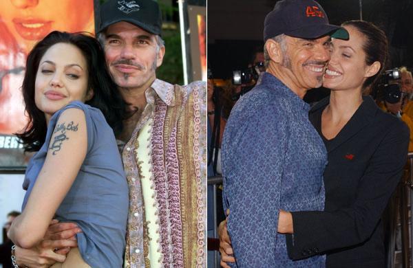 Angelina Jolie vai com Bob Thornton, seu marido na época, à duas pré-estreias: em 2000 do filme