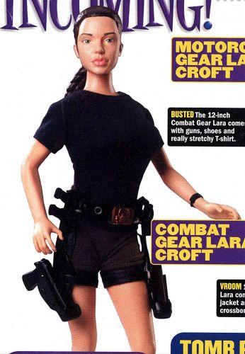 A versão boneca de Lara Croft, boneca heroína do filme