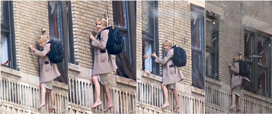 Conhecida por adorar uma adrenalina, Angelina Jolie dispensa dublê e arrisca-se durante a filmagem de