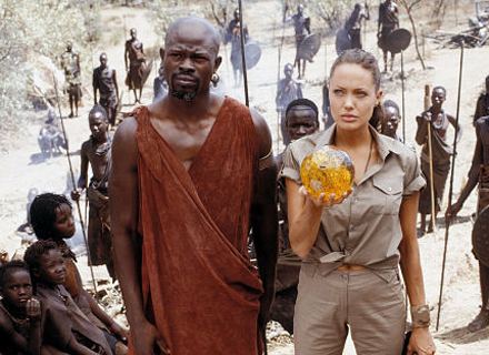 Com Djimon Hounsou em