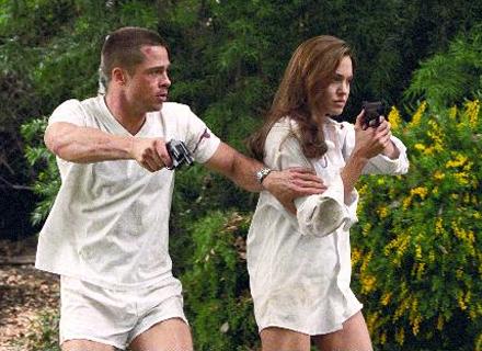 Brad e Jolie vivem assassinos de aluguel em