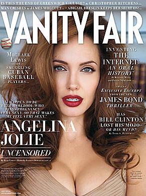 Angelina Jolie sai na capa da revista