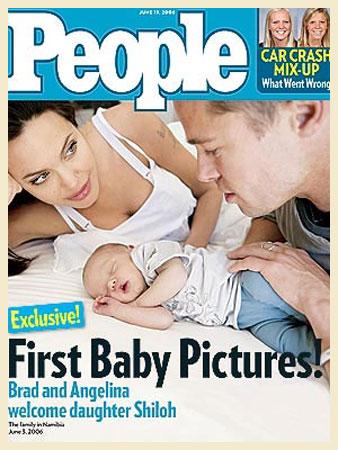 Muita curiosidade girava em torno da aparência de Shiloh Nouvel, a primeira filha biológica dos lindos Angelina Jolie e Brad Pitt. As fotos da fofa foram vendidas em junho de 2006 para a revista