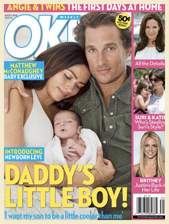 O ator Matthew McConaughey e a modelo brasileira Camila Alves escolheram a