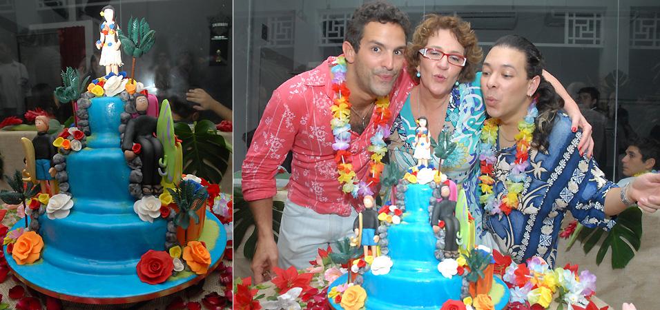 Iran Malfitano, Rosane Gofman e David Santiago