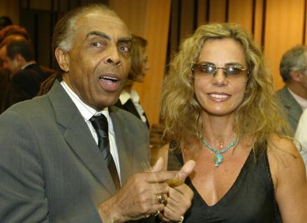 Ao lado do ministro da Cultura Gilberto Gil, em novembro de 2006