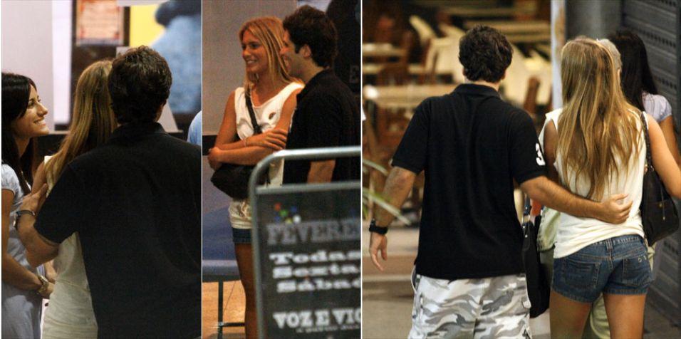Bruno Gagliasso e a atleta do nado sincronizado Branca Feres foram vistos juntos no Teatro dos Grandes Atores, na Barra da Tijuca. Uma amiga da atleta confirmou ao site Glamurama que os dois estavam tendo um romance.