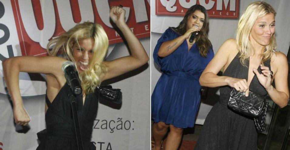 Carol Dieckmann faz sua versão de Madonna durante premiação da revista