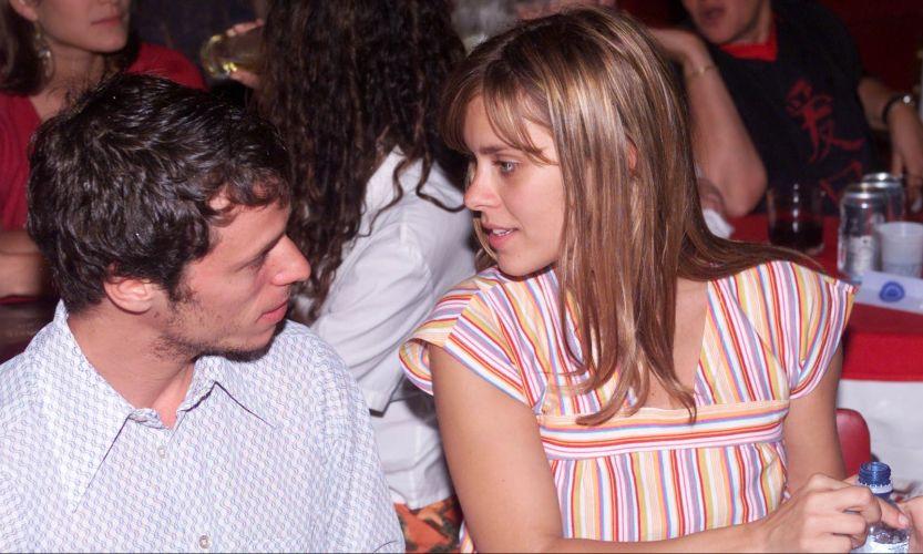 Carolina Dieckmann e Tiago Worcman assistem ao show de Preta Gil no Canecão, Rio de Janeiro (7/11/2007)