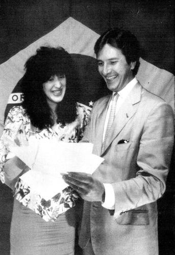 O político e então candidato à presidência Fernando Collor de Mello e Claudia Raia (1989)