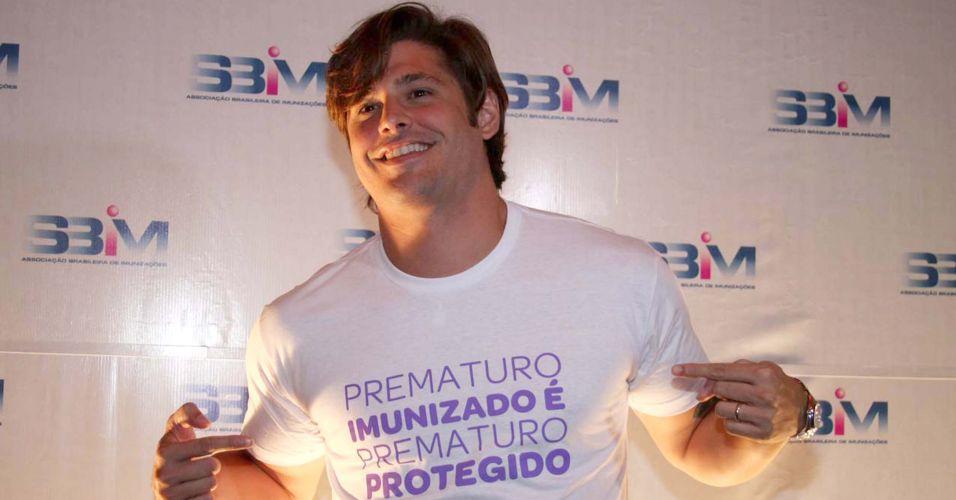 Dado Dolabella participa do lançamento da campanha Prematuro Imunizado é Prematuro Protegido, em São Paulo (14/4/2010)