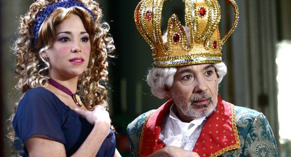 Danielle ao lado de Pedro Paulo Rangel no quadro