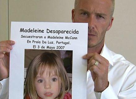 Beckham participa de campanha pela busca de Madeleine McCann, 5 anos (11/5/07)