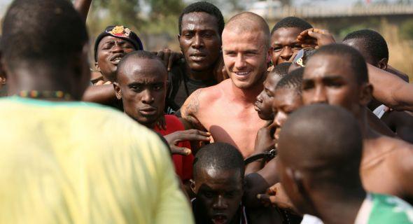 David Beckham, Embaixador da Boa Vontade do Unicef, visita Serra Leoa (19/1/08)