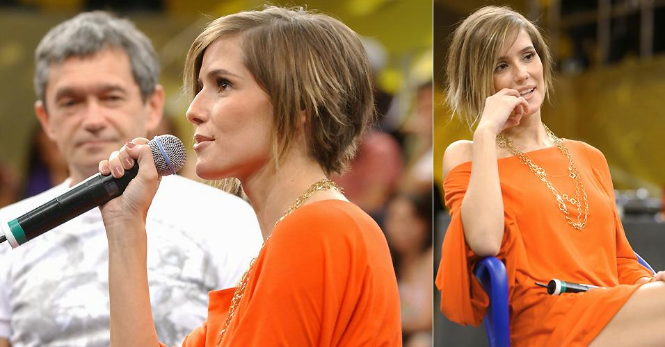 Fã de mudanças, Deborah Secco adora mexer com o visual. Depois de ficar loira e fazer apliques, dessa vez ela deixa os cabelos bem curtos (19/10/2007)