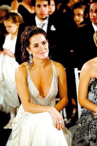 Deborah Secco é madrinha de casamento da amiga Juliana Paes com Carlos Eduardo Baptista (10/9/2008)
