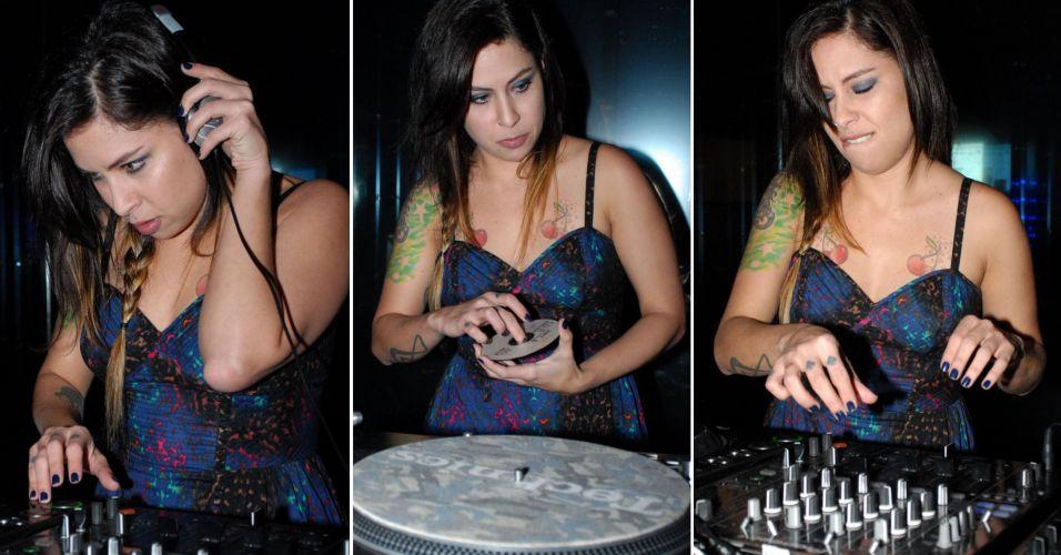 A cantora Pitty toca em uma festa em clube de São Paulo (28/4/2010)