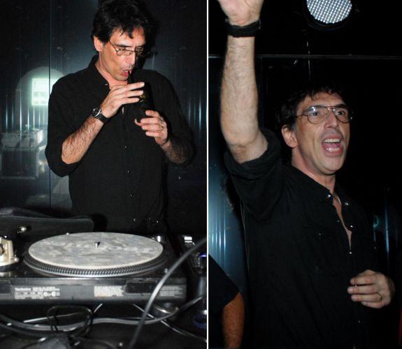 A cantor Lobão toca em uma festa em clube de São Paulo (28/4/2010)