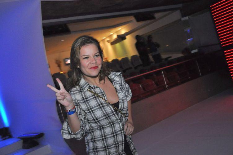 Fernanda Souza é uma das famosas a prestigiar o show de Shakira no Estádio do Morumbi, no sábado, em São Paulo (19/3/2011)