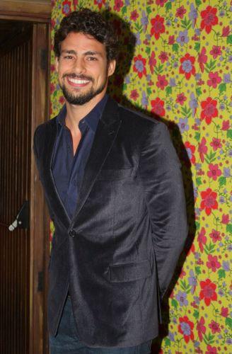 O ator Cauã Reymond na festa de lançamento da novela