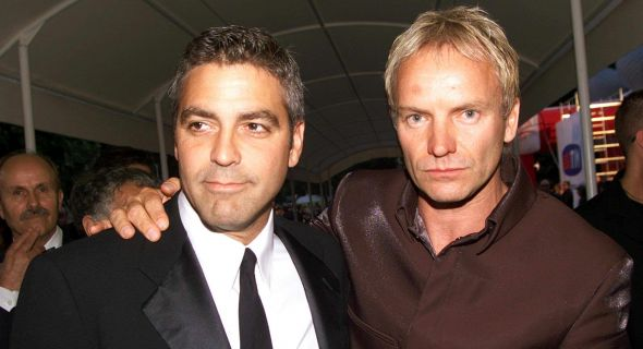 Clooney e Sting chegam ao 