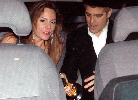George Clooney com Krista Allen, sua namorada de 2002 a 2004