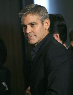 George Clooney no jantar dos indicados ao Oscar (fev/2008)