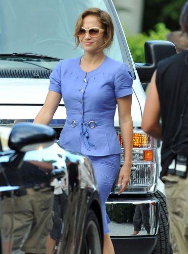 A cantora e atriz Jennifer Lopez roda cena do filme