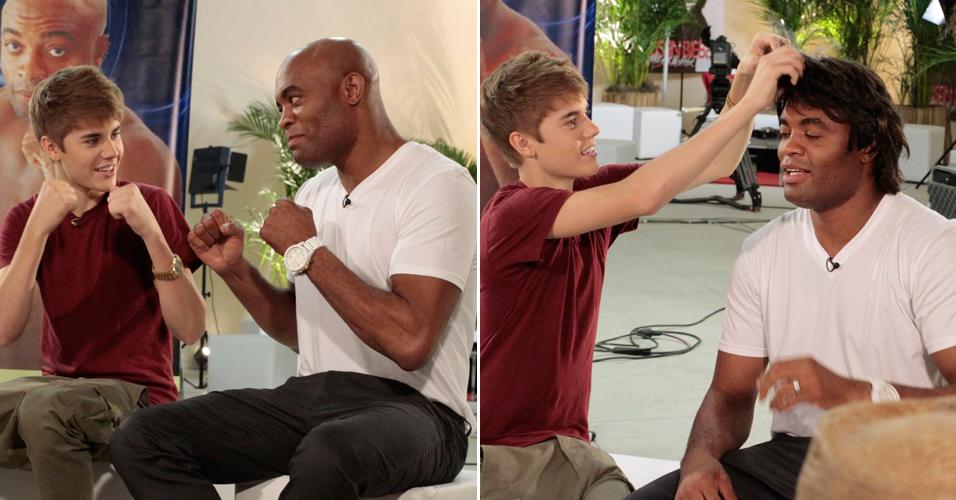 Antes de seu primeiro show no Brasil, Justin Bieber participa de gravação do