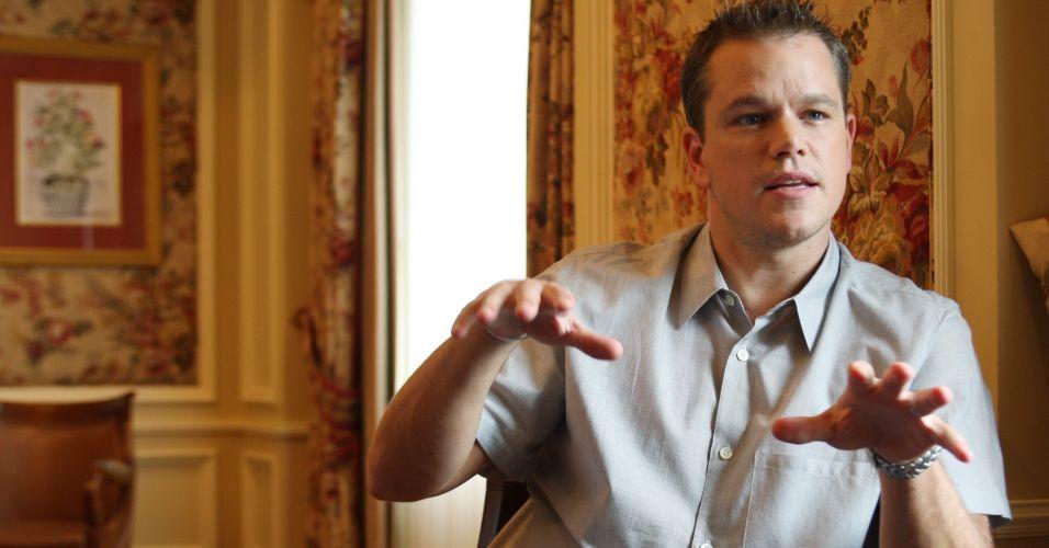 Matt Damon dá entrevista em Toronto (9/9/2007)