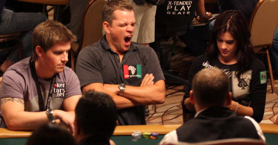 Matt Damon participa do 3 Torneio Anual de Poker Beneficente com celebridades no Rio Hotel Casino em Las Vegas (2/7/2009)