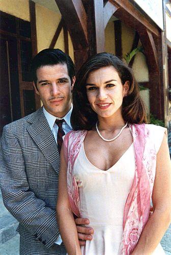 Adriana Garambone e Murilo Benício durante gravação da novela