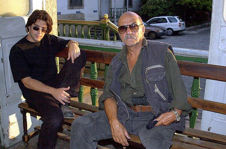 Murilo Benício e Lima Duarte durante as gravações do episódio