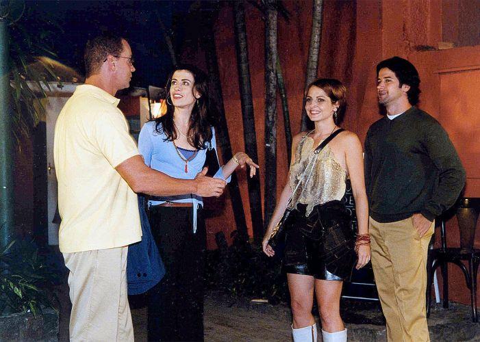 Da esquerda para a direita, Luiz Fernando Guimarães, Fernanda Torres, Drica Moraes e Murilo Benício, em cena do programa humorístico