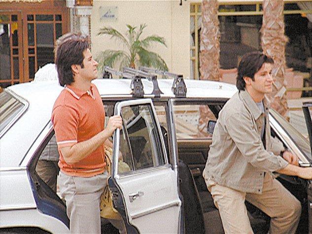 Murilo Benício como os irmãos Diogo e Lucas em cena criada por computador para