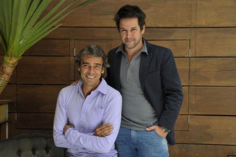 Alexandre Borges e Murilo Benício, que interpretam os rivais Ariclenes/Victor Valentim e Jacques Leclair em